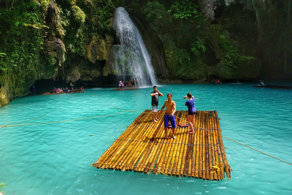 Kawasan Falls Bamboo Rafting / credits to Rappler for the image