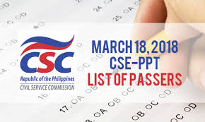 March 2018 Civil Service Exam Results CSE-PPT